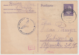 Reich Slovenia Censored Postal Stationery Postcard Travelled 1942 Prassberg (Mozirje) To Ljubljana B180508 - Slovenia