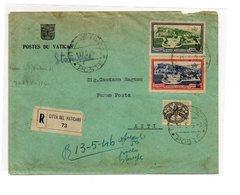 MK620 - VATICANO  , Raccomandata Per Asti Del 10/5/1946. Affrancatura Multipla - Vatican