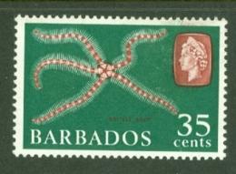 Barbados: 1966/69   Marine Life    SG352   35c    Brown-red & Deep Green  [Wmk Sideways]   MNH - Barbados (...-1966)