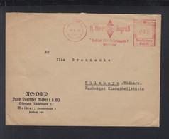 Dt. Reich Brief Freistempel HJ Thüringen 1940 - Germania
