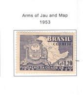 Brasile PO 1953 Arms E Map   Scott.746+See Scan On Scott.Page - Brasile