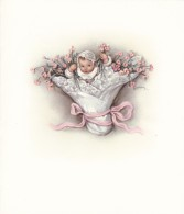 AO10 Greetings Card - Warm Welcome To The New Baby - Picture Cards