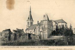 CHATILLON SUR LOIRE - 45 - Ruines Feodales - Eglise Et Presbitere - 76262 - Chatillon Sur Loire