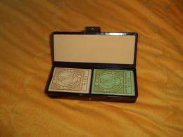 LOT DE 2 JEUX DE 54 CARTES AVEC SON ETUI. JEU DES PHILOSOPHES DE L'AN II. / VOLTAIRE, J.J. ROUSSEAU, MOLIERE, LA FONTAIN - 54 Cards