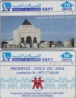 11988-N°. 2 SCHEDE TELEFONICHE - MAROCCO - USATE - Morocco