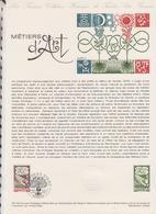 1ER JOUR FEUILLET DOCUMENT PHILATELIQUE 33/1978 METIERS D'ART - Documents De La Poste