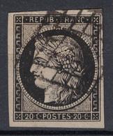 SUPERBE TIMBRE CERES N° 3 OBLITÉRÉ GRILLE Avec 4 BELLES MARGES - 1849-1850 Ceres
