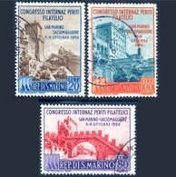 SAN MARINO - 1956 Congresso Internazionale Dei Periti Filatelici  Sass. 450/52 - Mi. 558/60  Serie Cpl. 3v. Usati - Used Stamps
