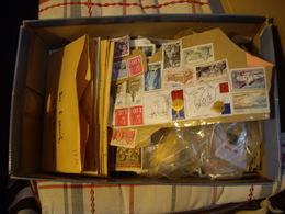 FRANCE LOT   Collection  Carton + Album - Timbres