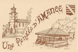 70 Amance Dessin Pierre Martin Collectio, Max François Carte N°040 (2 Scans) - France