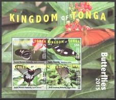 Tonga 2015 Yvertn° LP PA 307-310 En Bloc *** MNH Cote 350 Euro Faune Papillons Vlinders Butterflies - Tonga (1970-...)