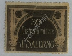 Erinnofilia - Chiudilettera - Regno D'Italia - 39° Distretto Militare Di Salerno - Italia