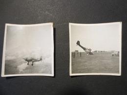 Photos Originales - Aérienne Et Junkers JU 87 Planté - Militaires Allemands  - Base Et Véhicule - B.E - - Aviation