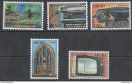 ARUBA, 2017, MNH, ANTIQUES, RADIO, TELEGRAPH, TELEPHONE, TV, TYPEWRITERS, 5v - Stamps