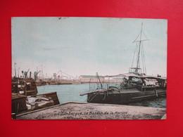 CPA 59 DUNKERQUE LE BASSIN DE LA MARINE BATEAUX - Dunkerque