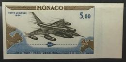 MONACO N° 82 Avion Vol New York Paris Non Dentelé Essai Imperf Color Proof Superbe **, Bdf Et RARE ! - Monaco