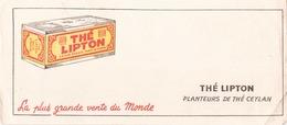 "Buvard "" Thé Lipton, ( Taches, Pliures, 21 X 9 Cm = - Coffee & Tea"