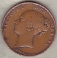 Grande-Bretagne . 1 Penny 1855 . Victoria - 1816-1901 : Frappes XIX° S.