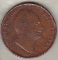 Grande-Bretagne . 1 Penny 1834 . WILLIAM IV - 1816-1901 : Frappes XIX° S.