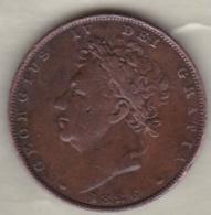 Grande-Bretagne . 1 Farthing 1826 . George  IV - 1816-1901 : 19th C. Minting