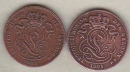 Belgique. 1 Centime 1901. Légende Française Et Légende Flamand. Leopold II - 1865-1909: Leopold II