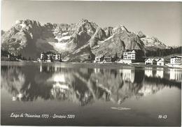 X2121 Lago Di Misurina (Belluno) - Panorama Col Sorapis / Viaggiata 1957 - Italia