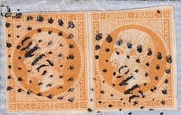 Lettre 1862 Avec Correspondance Paire Napoléon III 10c Type II Paris Pour Eu Saine Maritime Lavigne Sculpteur - Marcophilie (Lettres)