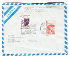 Argentina FIRST FLIGHT COVER LUFTHANSA BOEING 720 B TO Germany 1964 - Luftpost