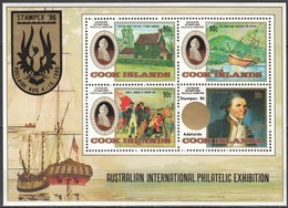 Cook Islands 1986 Yvertn° Bloc 170 *** MNH Cote 12 Euro James Cook Stampex '86 - Cook