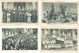 4 CPSM - Ouganda : église, école Religieuse, Cuisine  ( S. 2755 ) - Ouganda