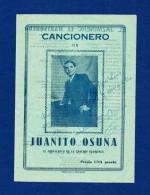 JUANITO OSUNA (Cancionero) Con Autógrafo - Programas