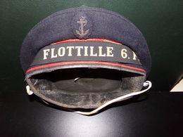Calot De Marin Flottille 6F Dans L'état ( 26 X 24 X 4 Cm , 190 Gr ) - Headpieces, Headdresses