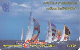TARJETA DE ANTIGUA & BARBUDA DE UNOS VELEROS - 13 CATB - Antigua And Barbuda