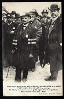 CPA ANCIENNE FRANCE- TROYES (10)- MANIFESTATION DES VIGNERONS EN 1911- M. CHECQ ORGANISATEUR- TRES GROS PLAN - Troyes