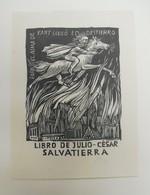 Ex-libris Moderne XXème Illustré -  Allemagne - Julio-César SALVATIERRA - Ex-libris