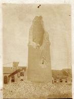 PHOTO ALLEMANDE - CHEMINÉE DE LA SUCRERIE DE LA GARE DE CHAULNES BOMBARDÉE LE 4 JUIN 1915 - 1914-18