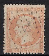 OBLITERATION MARITIME ANCRE Sur NAPOLEON N° 23 (40c ORANGE) - 1862 Napoléon III