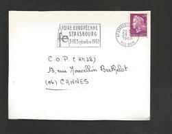 FLAMME FOIRE EUROPEENNE DE STRASBOURG 1968 - Oblitérations Mécaniques (flammes)