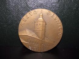Médaille  Commémorative En Bronze ?? Gelnica ( Slovaquie ) 1964 - Autres