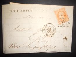 France Napoleon , Lettre De Lyon 1866 Pour Riez - 1862 Napoleon III