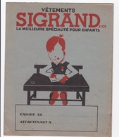 PROTEGE CAHIER VETEMENTS SIGRAND - Book Covers