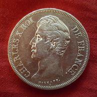 Monnaie Argent 5 Francs Charles X Roi De France 1830 A - Tranche En Relief - Francia
