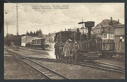 +++ CPA - Militaria - CAMP D'ELSENBORN - La Gare Militaire - Krijgsstatie - Train  Trein - Cachet Taxe 1922  // - Butgenbach - Butgenbach