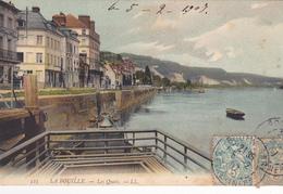 76. LA BOUILLE  CPA  COLORISEE . LES QUAIS. ANNEE 1907 - Francia