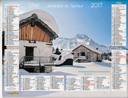 Almanach Du Facteur 2017 - Vallée De La Tarentaise, Savoie - Massif Des Écrins, Haute-Savoie - Dpt 95 - Éditions Oller - Calendars