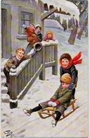 CPA THIELE Arthur Circulé Luge Sport D'hiver Neige TSN 1639 - Thiele, Arthur