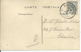 Fantasiekaart Met OCB 81 - Afstempeling ASSEBROUCK - COBA 30 - 1893-1907 Wapenschild