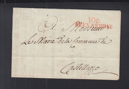Lettre Alexandrie 1801 - Marcophilie (Lettres)