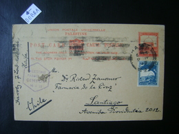 PALESTINE - WHOLE POSTAL SENT FROM HAIFA TO CHILE WITH CENSORSHIP STAMP IN THE STATE - Palestine