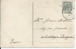 Fantasiekaart Met OCB 81 - Afstempeling AYWIERS - COBA 30 - 1893-1907 Wapenschild